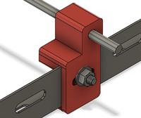 This is my design for a wing jig bracket. The brackets hold 1/4 inch piano wire rods.